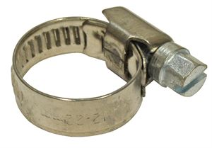 Hose Clip Worm Drive Jubilee 12 x 22mm S/S